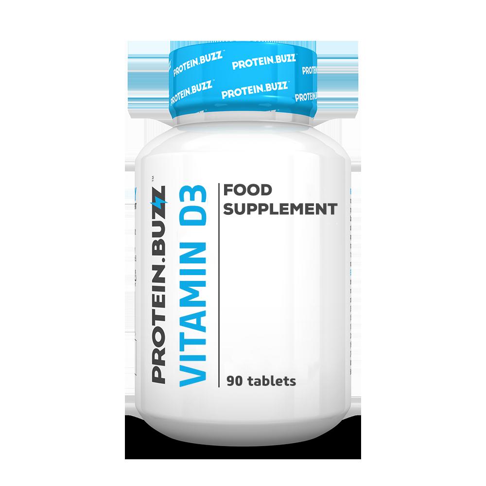 Protein Buzz Vitamin D3 90 tab.