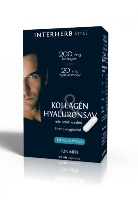 Interherb Kollagén & Hyaluronsav for Men 30 kap.