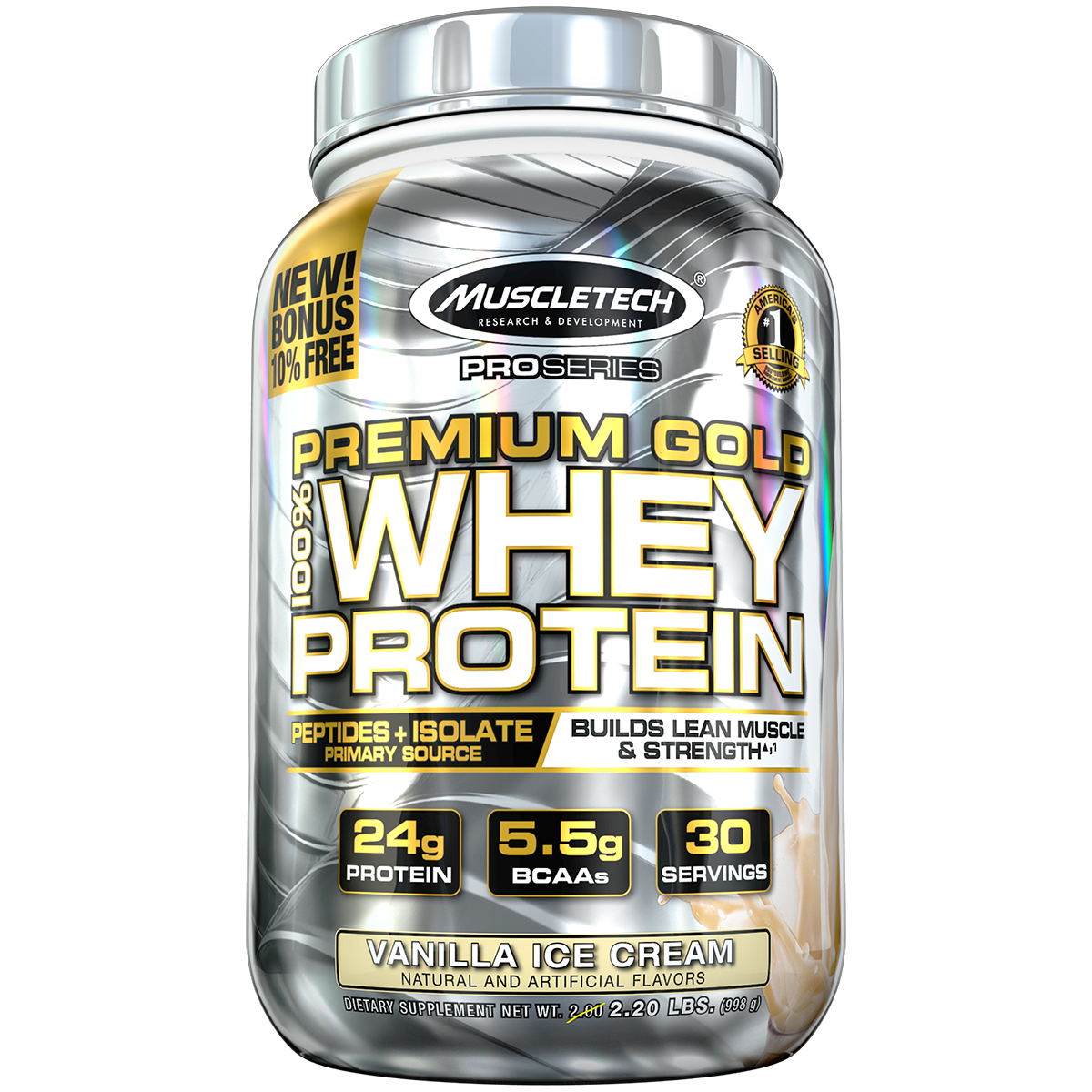 MuscleTech Pro Series Premium Gold 100% Whey Protein 0,998 kg