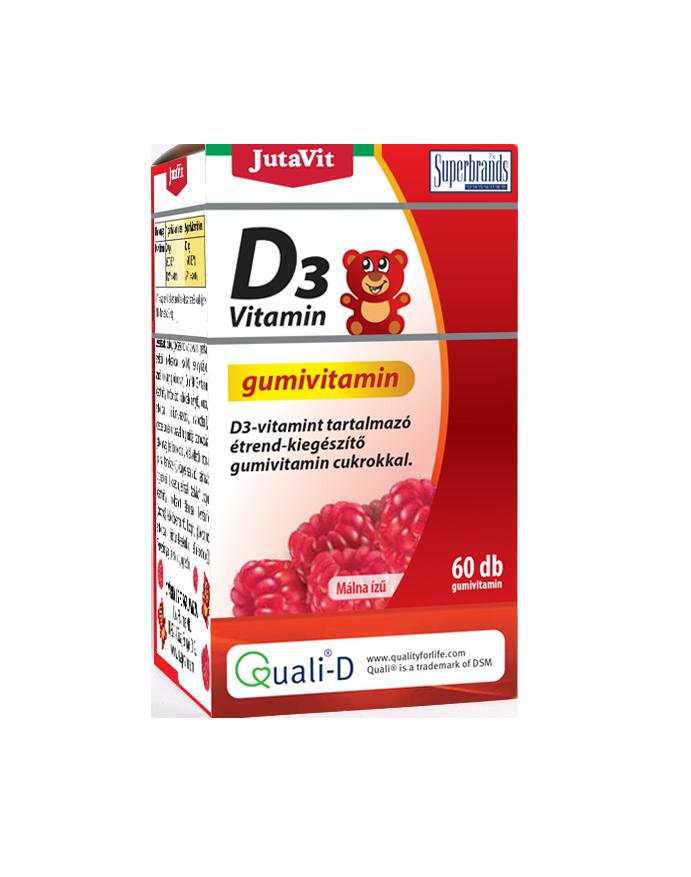JutaVit Vitamin D3 Gummyvitamin 60 tab.